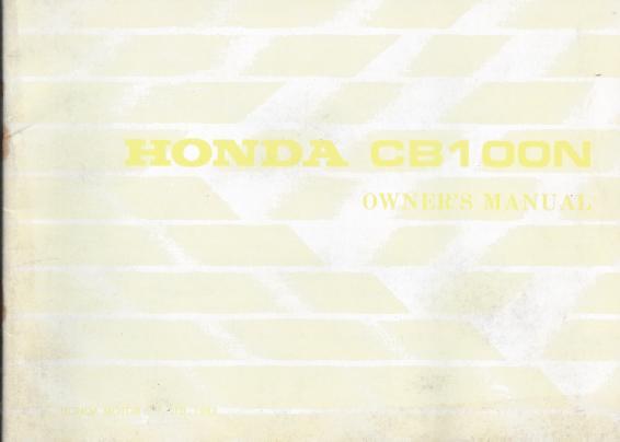 Honda CB 100 125 200 250 Literatur